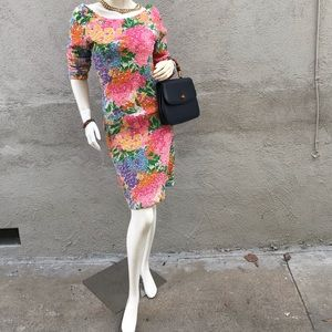Vintage stretch floral dress